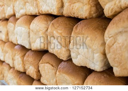 pile of bread rolls, bread, loaf, white, fresh,
