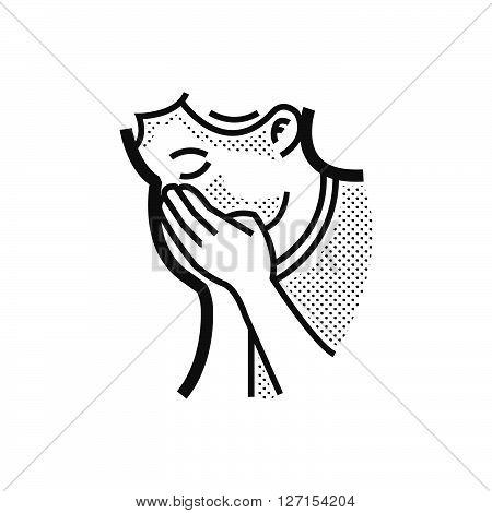 dot icon Otolaryngology Coughing icon, vector design eps10.