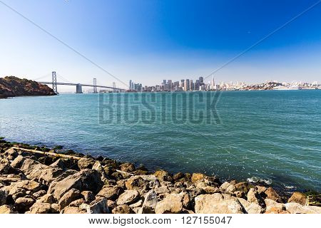View From Treasure Island To Bay Bridge In San Francisco