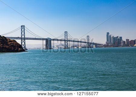 View From Treasure Island To Bay Bridge In San Francisco