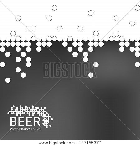 Beer foam background, stylized bubble and liquid. Vector illustration