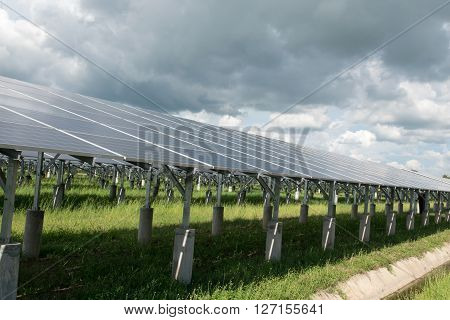 Photovoltaic or solar panel for renewable energy or electricity