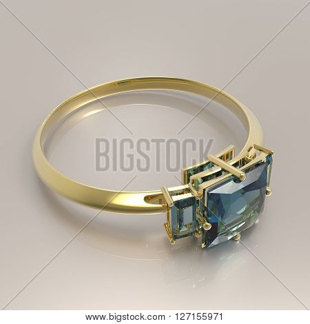 Wedding rings with diamonds.. Fashion jewelry. 3d digitally rendered illustration