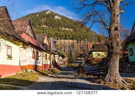 Vlkolinec, Slovakia - December 24, 2015