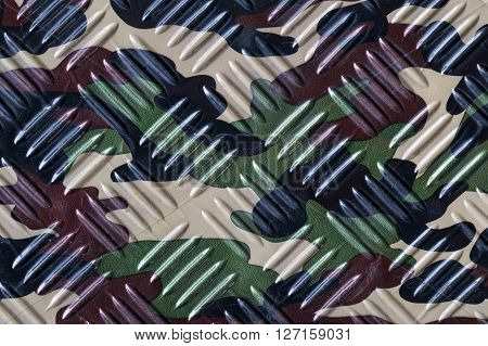 camouflage texture background with diamond pattern, green