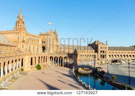 Spanish Square espana Plaza in Sevilla Spain