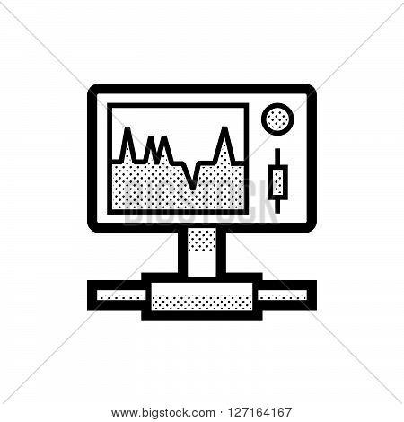 Medical Device Icon, Health Care Portable Monitor