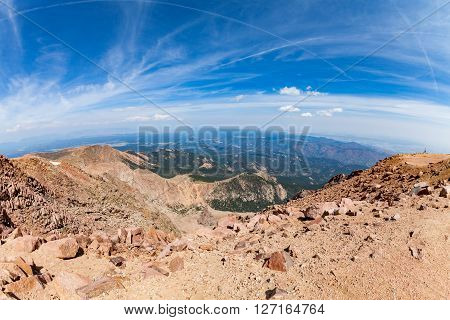 View of the Pikes Peak Mountain Colorado 2015