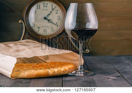 Focaccia With Wine