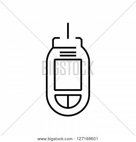 line icon Medical Device Icon Diabetes Flat icon