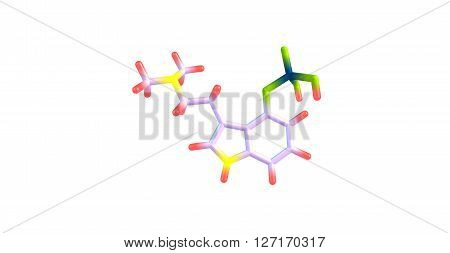 Psilocybin is a naturally occurring psychedelic compound produced by more than 200 species of mushrooms, collectively known as psilocybin mushrooms. 3d illustration