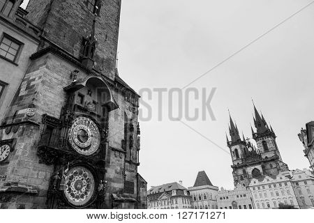 Clock In Prague, Czech Republic