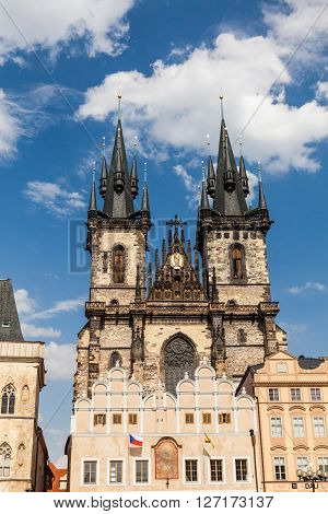 The Church of Mother of God in front of Tyn in Prague Czech Republic