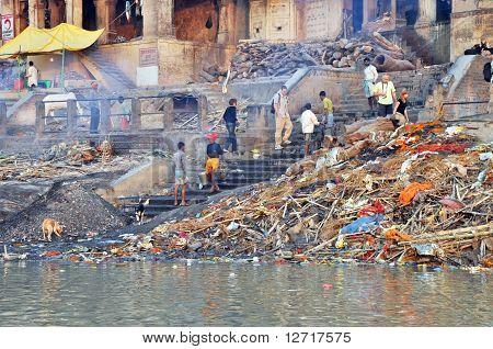 Burning Ghat In Varanasi, India