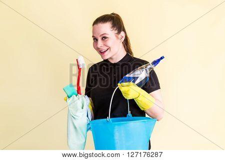 Member Of Housekeeping Staff  Working