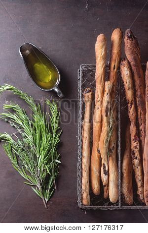 Grissini Bread And Olive Oil
