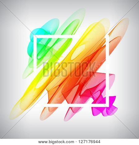 Vector frame design, with space for your text. Color smoke template with frame.