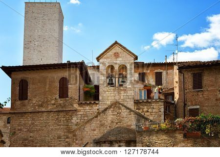 Beautiful view of the ancient city of Perugia. Umbria Italy