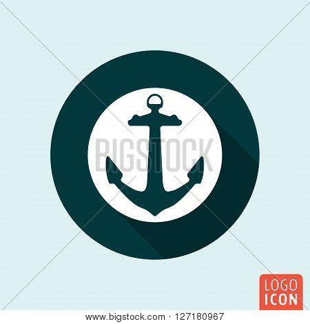 Anchor icon. Ship anchor symbol. Vector illustration