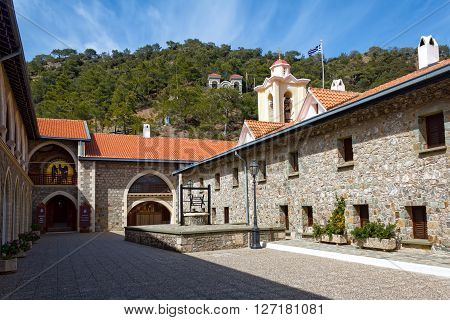 The Kykkos Monastery in Troodos mountains, Cyprus.