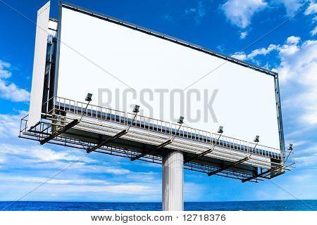 Blank Mega Billboard in the Skies