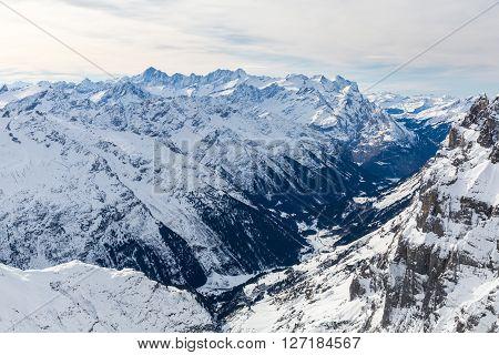 Views from the ski resort Engelberg Switzerland