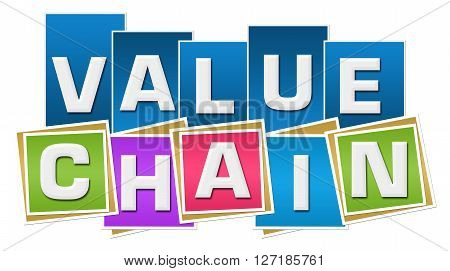 Value Chain text over vibrant colorful background.