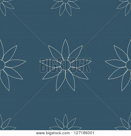 Vector illustration for backgrounds and patterns in arabic style. floral style