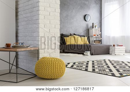 Modern Falt With Decorative Brick Wall