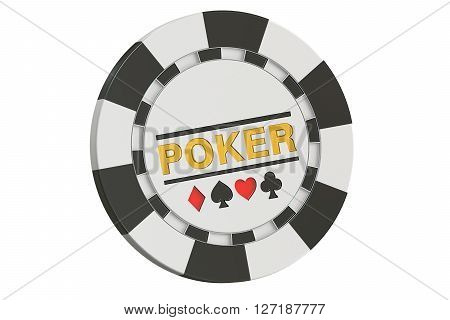 Casino token 3D rendering isolated on white background