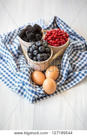 Baking. Ingredients For The Preparation Of Berry Pie.