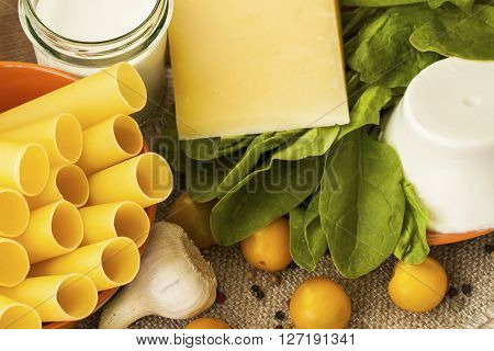 Cannelloni , italian pasta food - culinary cooking concept
