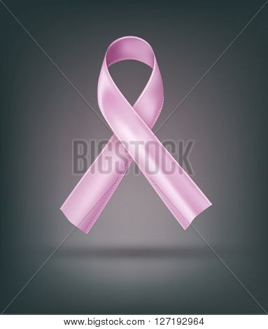 pink ribbon (breast cancer, awareness month) Element for design
