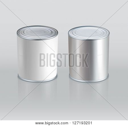 tin cans. Realistic. (Element for design)(JPEG Version)
