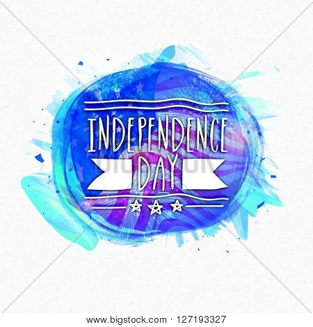 Creative Poster, Banner or Flyer design with American Flag for 4th of July, Independence Day celebration.