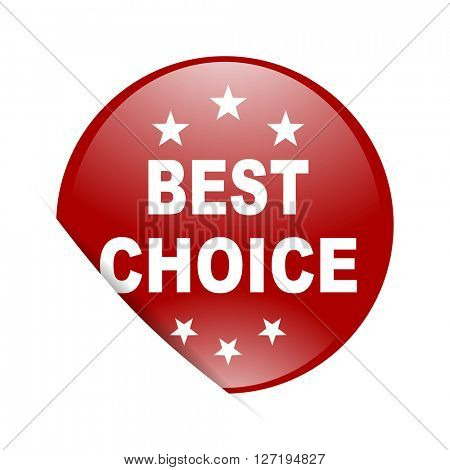 best choice red circle glossy web icon