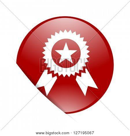 award red circle glossy web icon