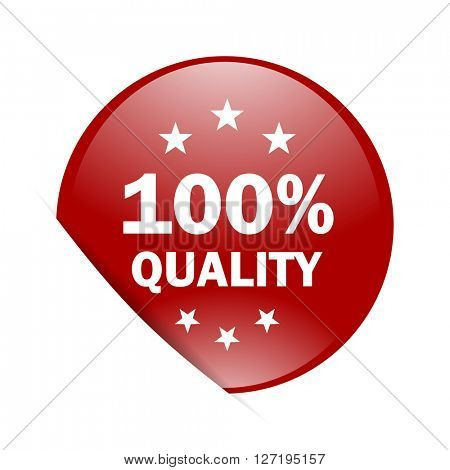 quality red circle glossy web icon