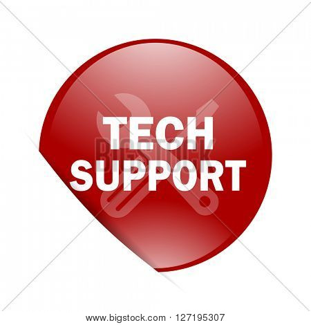technical support red circle glossy web icon