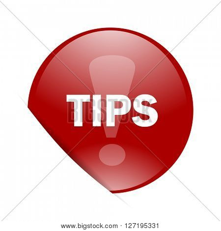 tips red circle glossy web icon
