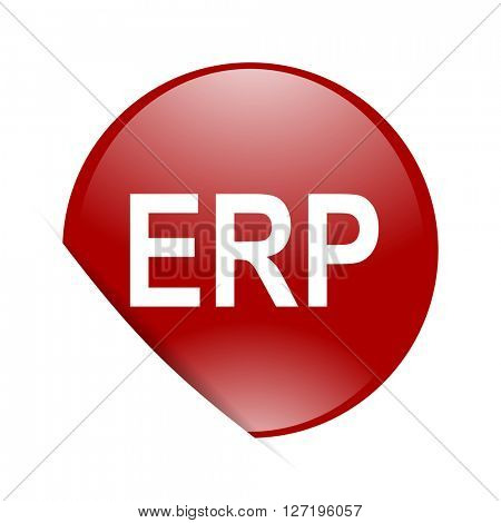 erp red circle glossy web icon
