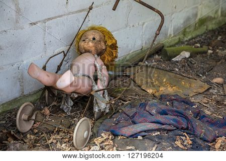 Forgotten Doll In Chernobyl, Ukraine