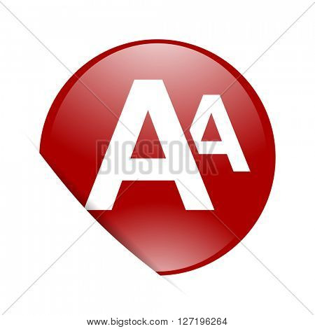 alphabet red circle glossy web icon