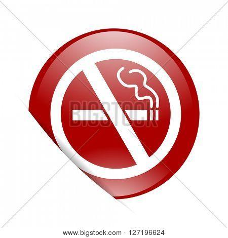 no smoking red circle glossy web icon