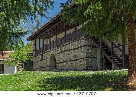 Typical building of the nineteenth century in Temski monastery St. George, Pirot Region, Republic of Serbia