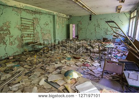 School In Chernobyl, Ukraine