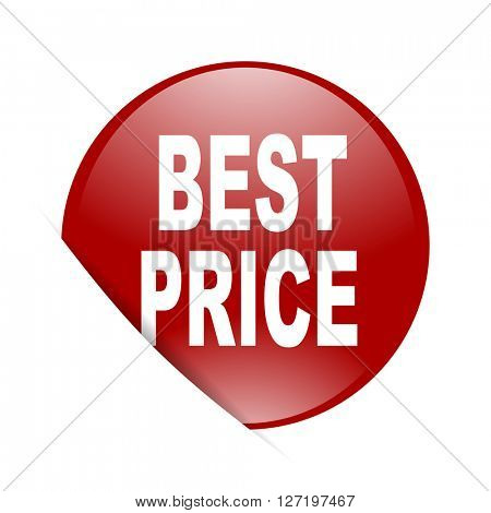 best price red circle glossy web icon