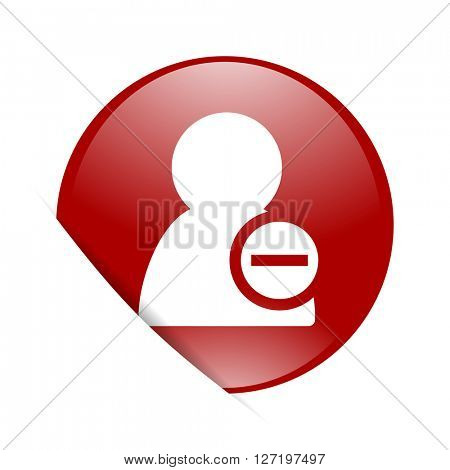 remove contact red circle glossy web icon