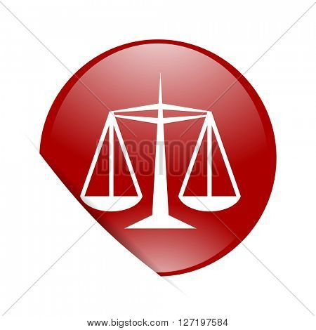 justice red circle glossy web icon