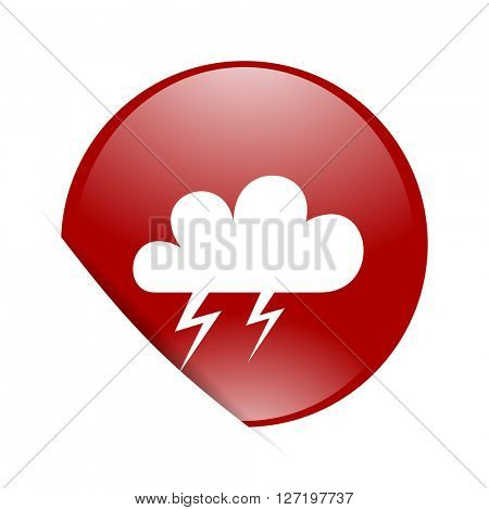 storm red circle glossy web icon